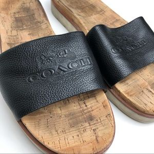 Coach Cork Slip On Slides Sandals